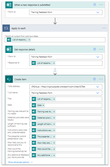 Store MS Forms Responses in SharePoint Lists